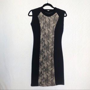 [ZARA]  Bodycon Lace Cut Out Dress - 4